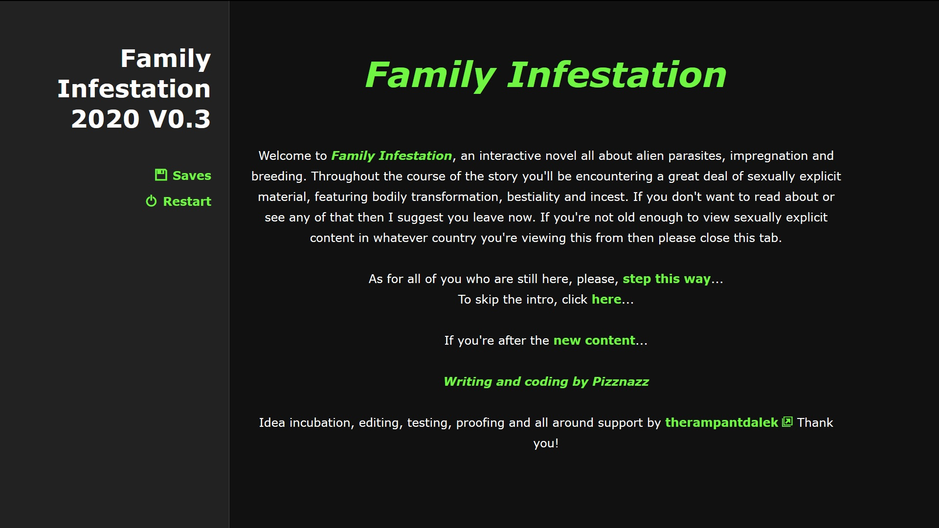 Family Infestation poster