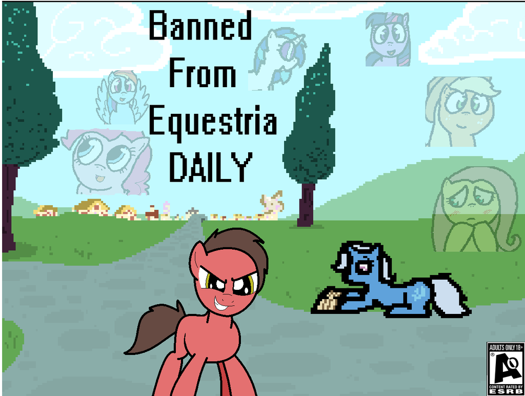 Banned from Equestria poster