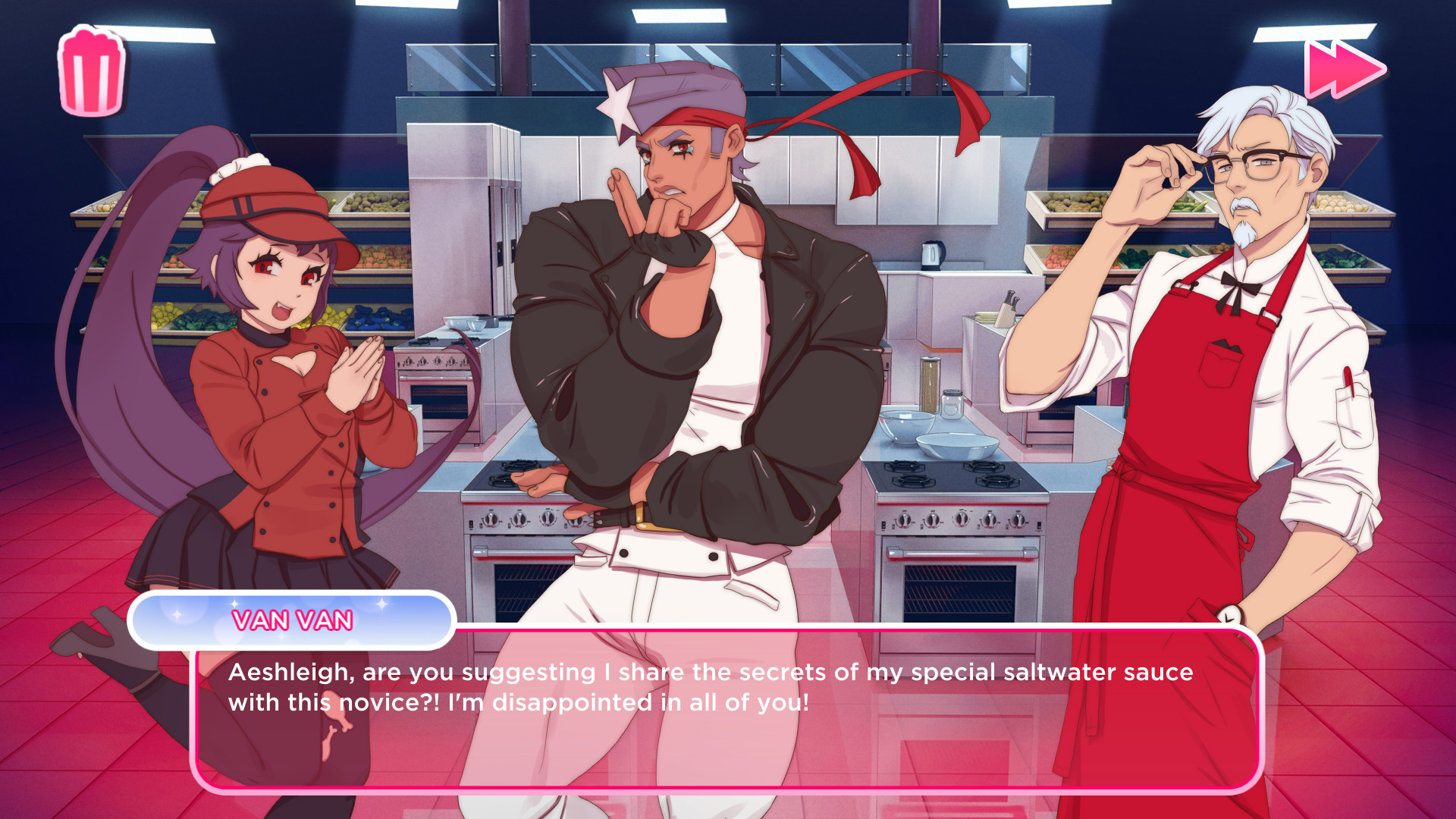 I Love You, Colonel Sanders! A Finger Lickin' Good Dating Simulator screenshot 3